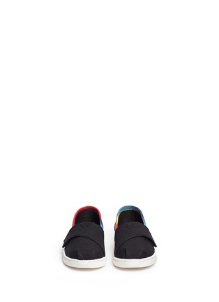 Figure View - Click To Enlarge - 90175 - Tiny Classic raffia print canvas toddler slip-ons