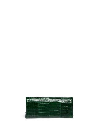 Back View - Click To Enlarge - Nancy Gonzalez - 'Gotham' crocodile leather shoulder strap clutch