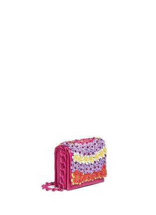 Figure View - Click To Enlarge - NANCY GONZALEZ - 'Gio' flower appliqué crocodile leather crossbody bag