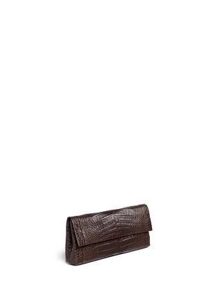 Figure View - Click To Enlarge - Nancy Gonzalez - 'Gotham' crocodile leather shoulder strap clutch