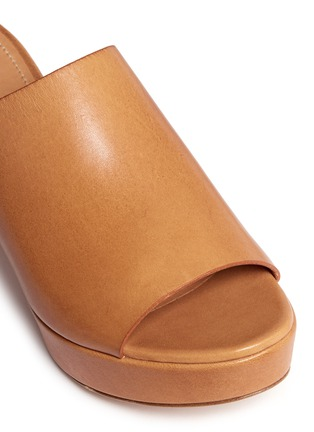 Detail View - Click To Enlarge - MANSUR GAVRIEL - Block heel leather mules