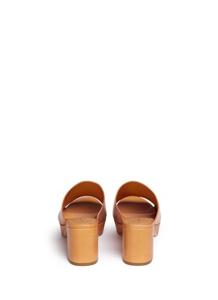 Back View - Click To Enlarge - MANSUR GAVRIEL - Block heel leather mules