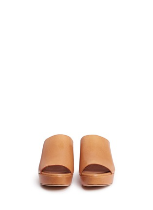 Front View - Click To Enlarge - MANSUR GAVRIEL - Block heel leather mules