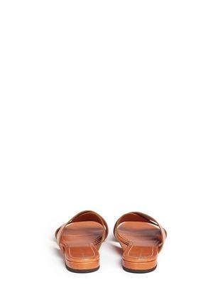Back View - Click To Enlarge - Mansur Gavriel - Cross vamp leather flat sandals