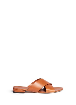 Main View - Click To Enlarge - Mansur Gavriel - Cross vamp leather flat sandals