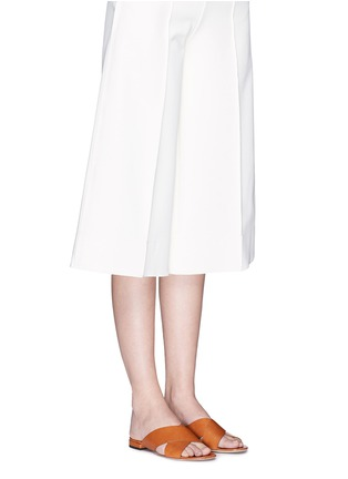 Figure View - Click To Enlarge - Mansur Gavriel - Cross vamp leather flat sandals