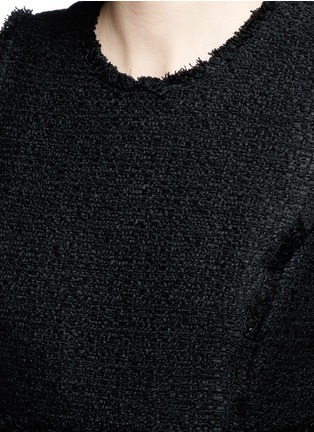 Detail View - Click To Enlarge - Proenza Schouler - Frayed tweed sleeveless peplum top