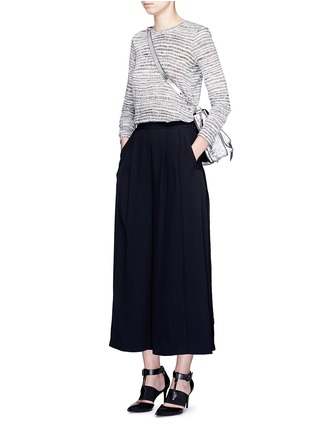 Figure View - Click To Enlarge - PROENZA SCHOULER - Piped seam satin back crepe culottes