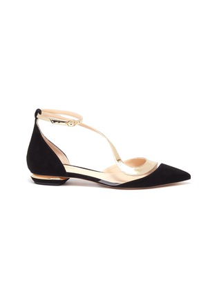 Main View - Click To Enlarge - NICHOLAS KIRKWOOD - S panelled metallic suede flats