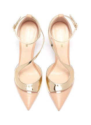 Detail View - Click To Enlarge - NICHOLAS KIRKWOOD - S panelled metallic leather pumps