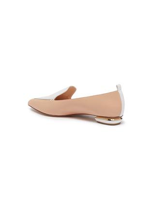 - NICHOLAS KIRKWOOD - 'Beya' metal heel contrast panel leather loafers