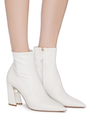 Figure View - Click To Enlarge - NICHOLAS KIRKWOOD - 'Miri' leather faux pearl embellished knee high boots