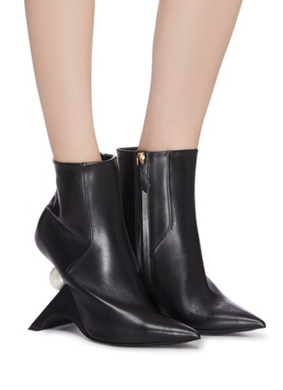 Figure View - Click To Enlarge - NICHOLAS KIRKWOOD - 'Jazzelle' structural heel ankle boots