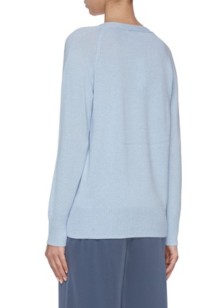 Back View - Click To Enlarge - VINCE - Marled Wool V-Neck Sweater
