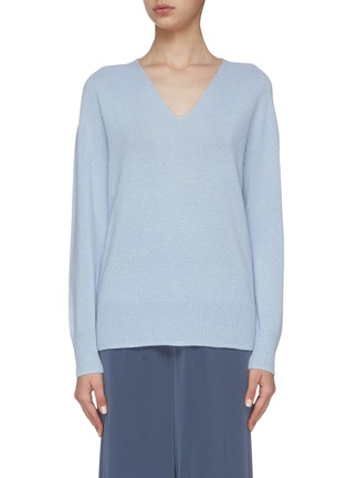 Main View - Click To Enlarge - VINCE - Marled Wool V-Neck Sweater