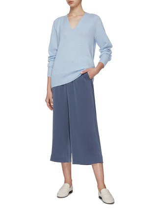 Figure View - Click To Enlarge - VINCE - Marled Wool V-Neck Sweater