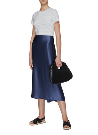 Figure View - Click To Enlarge - VINCE - Silk Slip Skirt