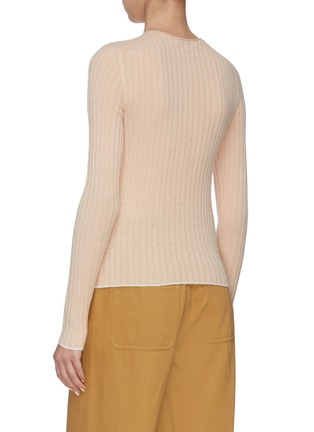 Back View - Click To Enlarge - VINCE - Microstripe Cashmere Sweater