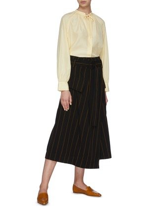 Figure View - Click To Enlarge - VINCE - Stripe Utility Skirt