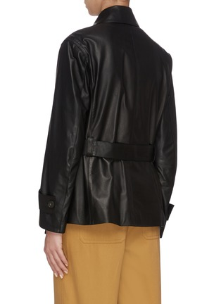 Back View - Click To Enlarge - VINCE - Leather Safari Jacket