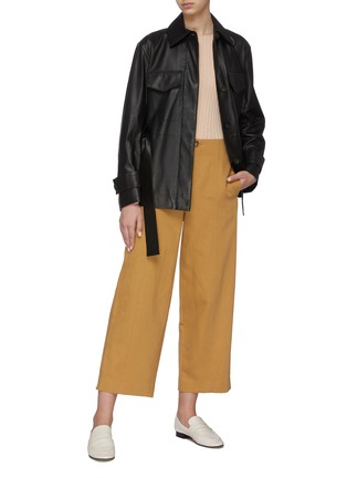 Figure View - Click To Enlarge - VINCE - Leather Safari Jacket
