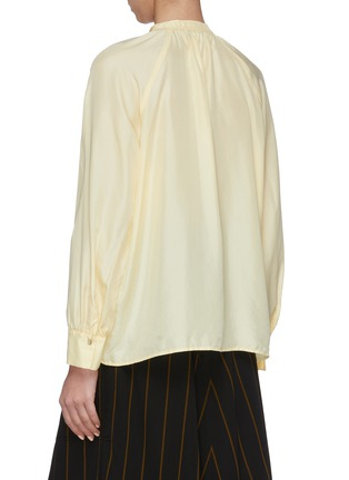 Back View - Click To Enlarge - VINCE - Tie-Neck Blouse