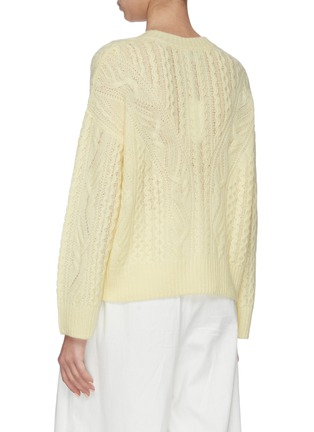 Back View - Click To Enlarge - VINCE - Cable knit sweater