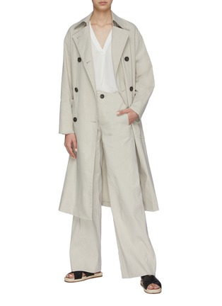 Figure View - Click To Enlarge - VINCE - Side slit belted trench
