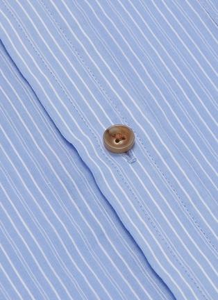 - VINCE - Pinstripe boxy placket shirt