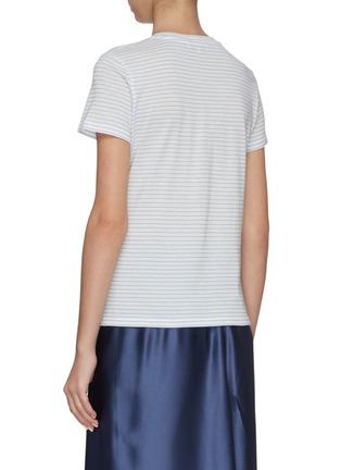 Back View - Click To Enlarge - VINCE - Pencil stripe cotton T-shirt