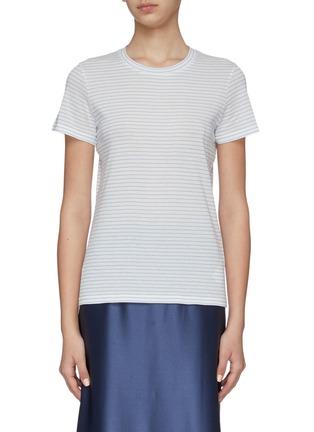 Main View - Click To Enlarge - VINCE - Pencil stripe cotton T-shirt
