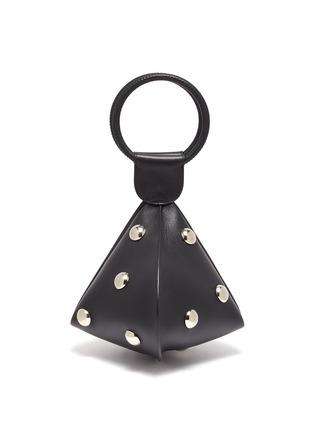Main View - Click To Enlarge - EMMA CHARLES - 'Lady Gwen' Stud Embellished Medium Dumpling Bag