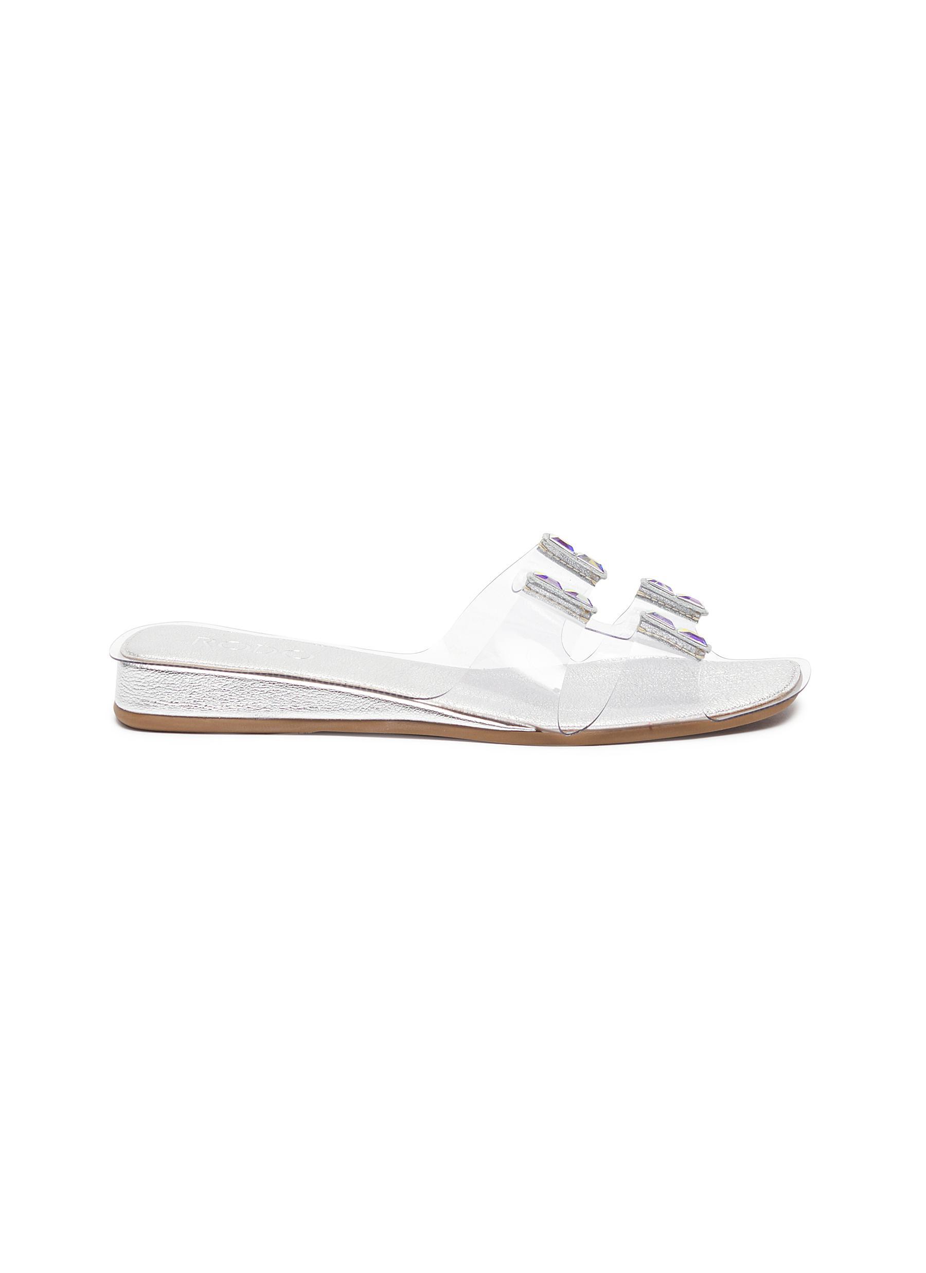 Rodo Strass embellished PVC sandals