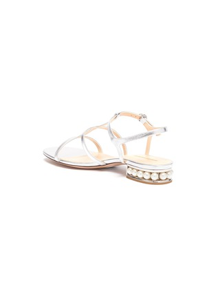 - NICHOLAS KIRKWOOD - 'Casati' faux pearl heel metallic leather sandals
