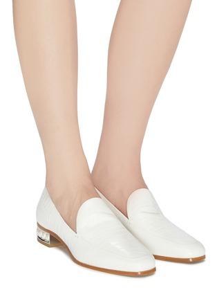 Figure View - Click To Enlarge - NICHOLAS KIRKWOOD - 'Casati' faux pearl heel moccasins