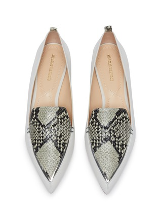 Detail View - Click To Enlarge - NICHOLAS KIRKWOOD - 'Beya' python print leather loafers