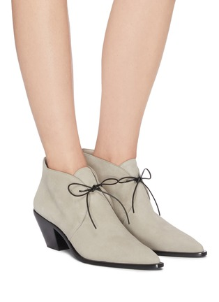 Figure View - Click To Enlarge - MERCEDES CASTILLO - 'Karington' suede ankle boots