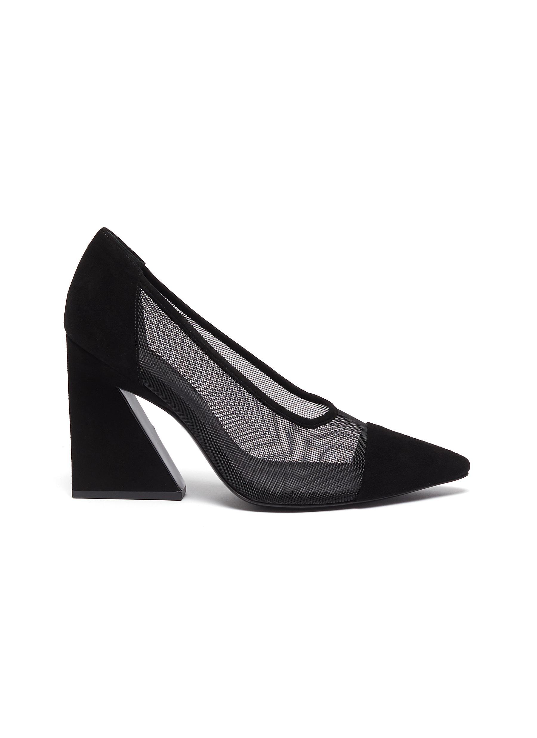 Mercedes Castillo High Heels Anthea angle block heel pumps