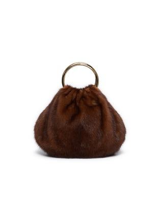Main View - Click To Enlarge - SIMONETTA RAVIZZA - 'Furrissima Puff' ring handle mink fur sac bag