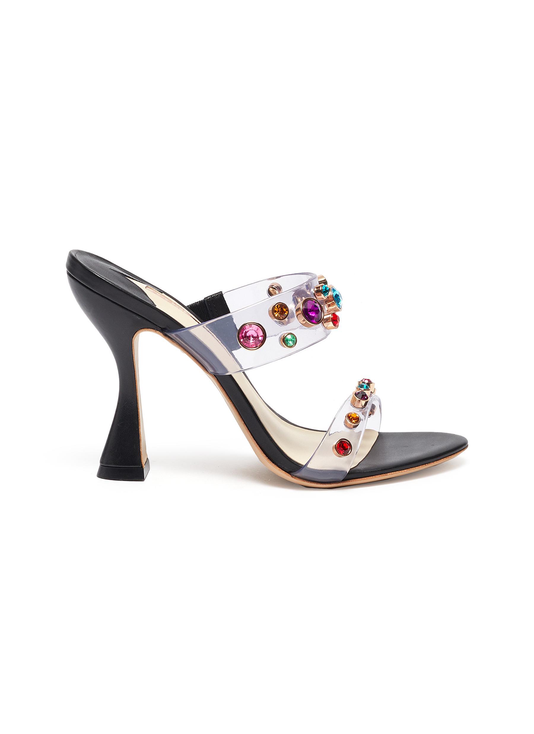 Sophia Webster High Heels Dina gem embellished strap mules