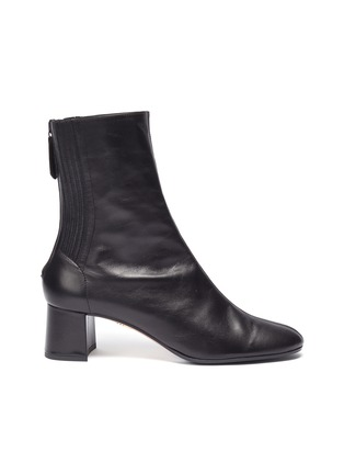 Main View - Click To Enlarge - AQUAZZURA - 'Saint Honore' panelled leather block heel ankle boots