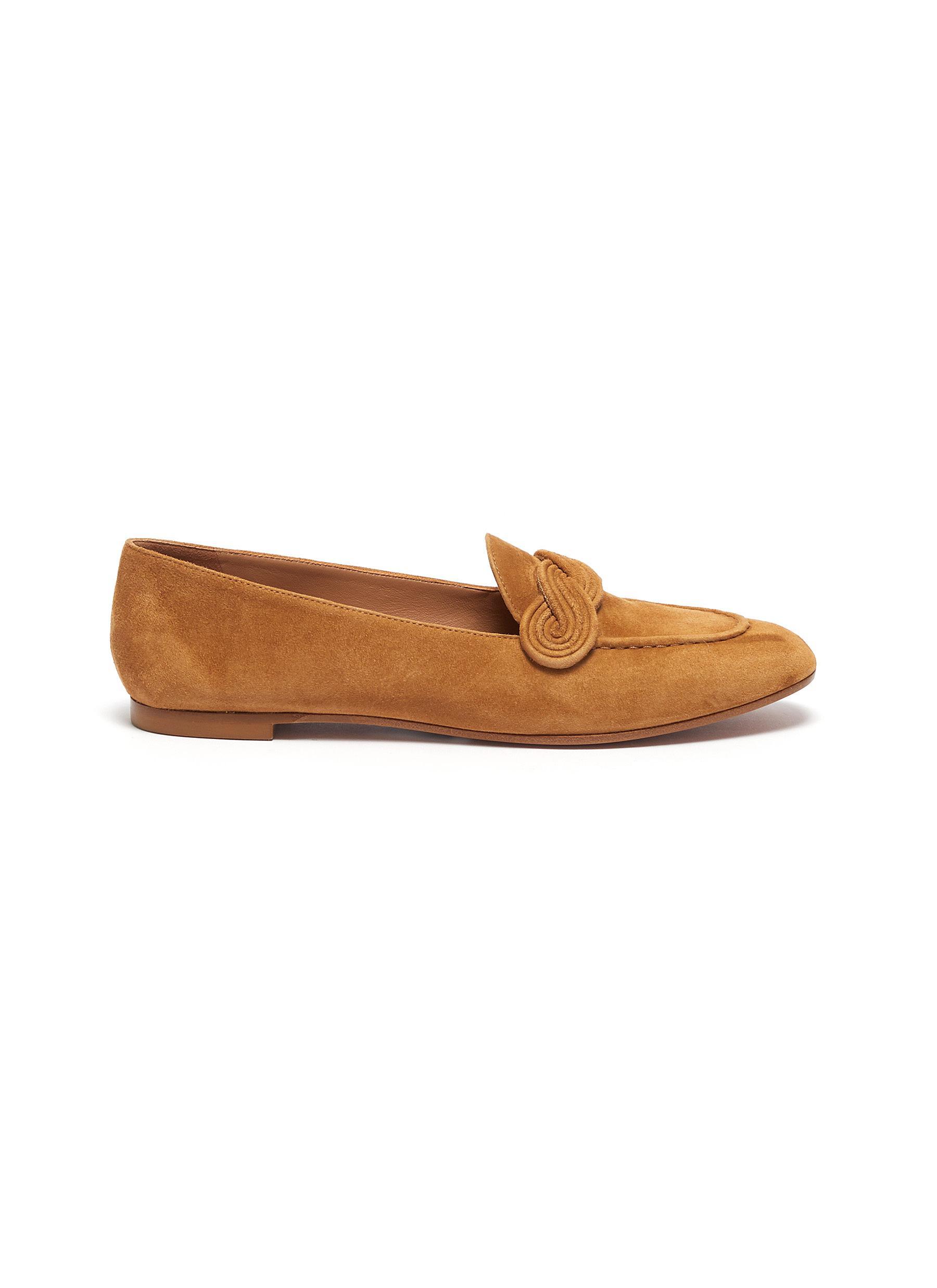Aquazzura Flats Infinite suede mocsasin loafers