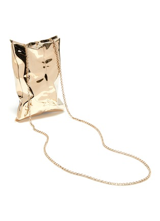 Detail View - Click To Enlarge - ANYA HINDMARCH - 'Crisp' Metallic Packet Clutch