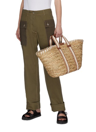 Figure View - Click To Enlarge - ANYA HINDMARCH - 'Walton' large natural seagrass woven basket