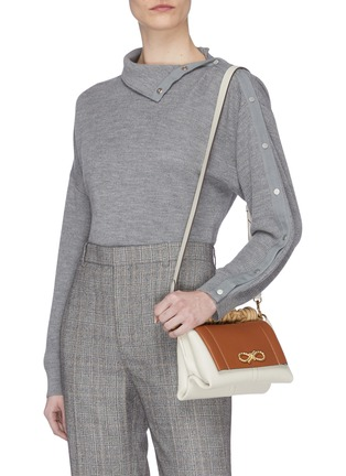 Figure View - Click To Enlarge - ANYA HINDMARCH - Colourblock mini leather bag