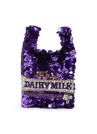 Main View - Click To Enlarge - ANYA HINDMARCH - 'Dairy Milk' Sequin Mini Tote