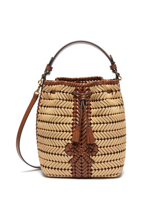 Main View - Click To Enlarge - ANYA HINDMARCH - 'Neeson' drawstring small leather bag