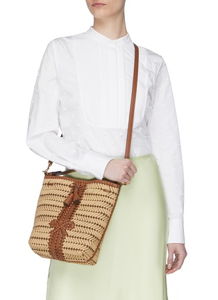 Figure View - Click To Enlarge - ANYA HINDMARCH - 'Neeson' drawstring small leather bag