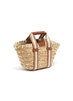 Detail View - Click To Enlarge - ANYA HINDMARCH - 'Walton' small natural seagrass woven basket