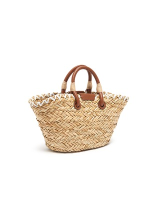 Detail View - Click To Enlarge - ANYA HINDMARCH - Woven basket smooth rope charm